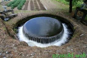 赤祖父ため池の円筒分水漕